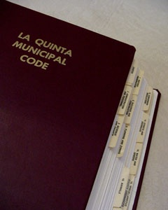 La Quinta Municipal Code Photo of Book