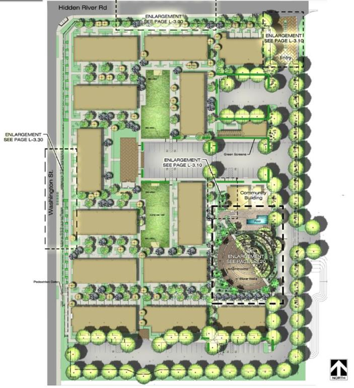SITE PLAN WASHINGTON APTS