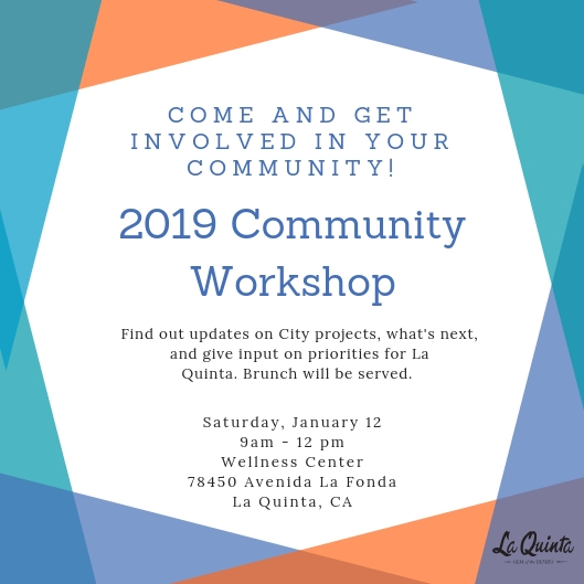 Community Workshop Invite - January 2019