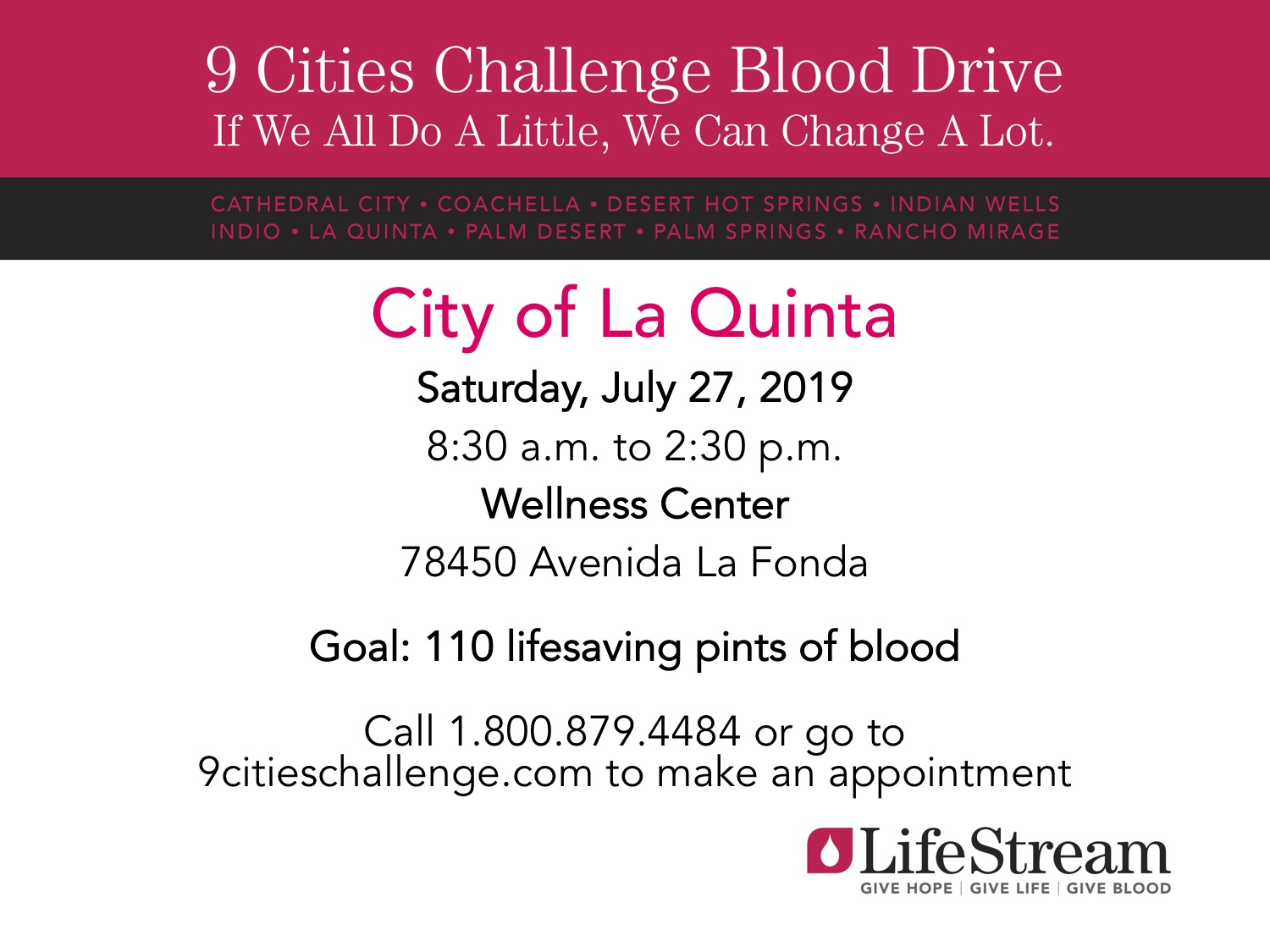 Lifestream 9 Cities Challenge PowerPoint Slide - City of La Quinta 2019  -  Read-Only
