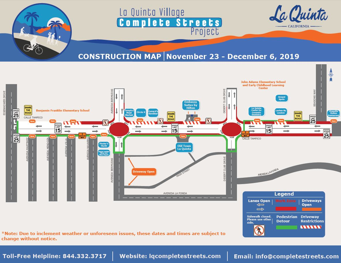 Construction Notice - Nov. 23-Dec6 map