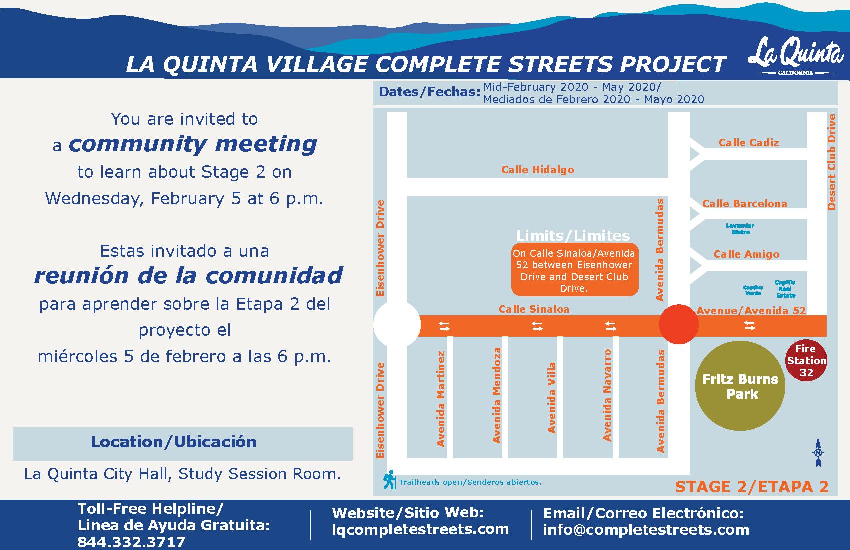 La Quinta Village Complete Streets Community Meeting